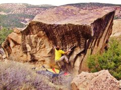 Rock Climbing Photo: Full Torque problem on Stronger Than Water Boulder...