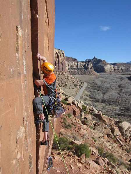 Rock Climbing Photo: Working the start.
