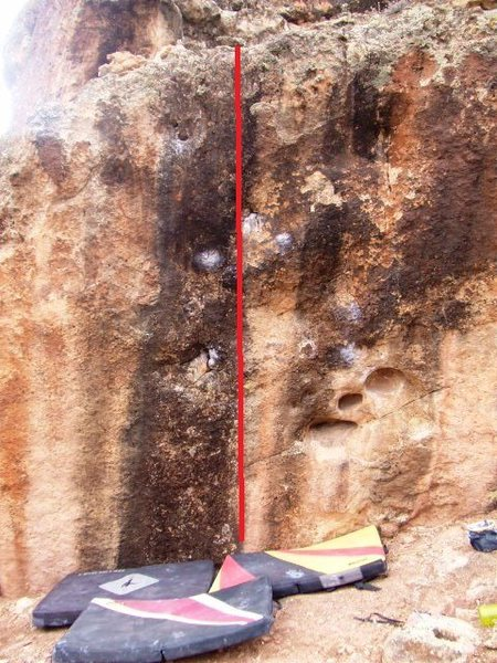 Rock Climbing Photo: Goes straight up more or less... going though the ...