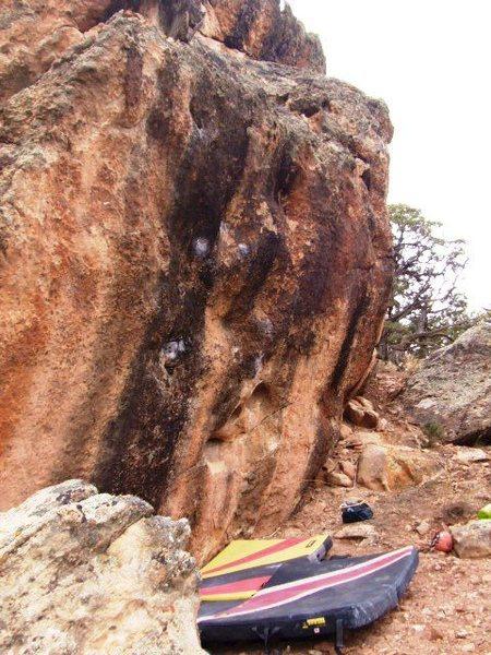 Rock Climbing Photo: View of North side of Juggernaut Boulder.