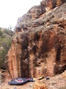 Rock Climbing Photo: North side of Juggernaut boulder, Shadow of the Co...