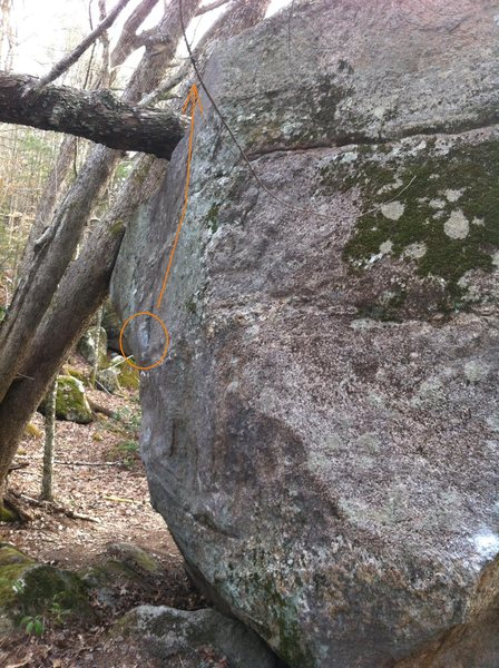 Rock Climbing Photo: flake problem