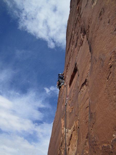 Rock Climbing Photo: TJ on pitch 3