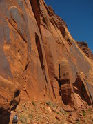 Rock Climbing Photo: The crack in the sun in the center of the photo th...
