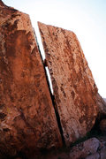 Rock Climbing Photo: Leaning Wide Crack.  Get on it.