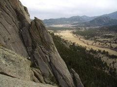 Rock Climbing Photo: Lumpy Ridge with Bill Duncan. March 18th 2012. Mik...