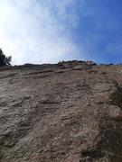 Rock Climbing Photo: Slab start on P1.