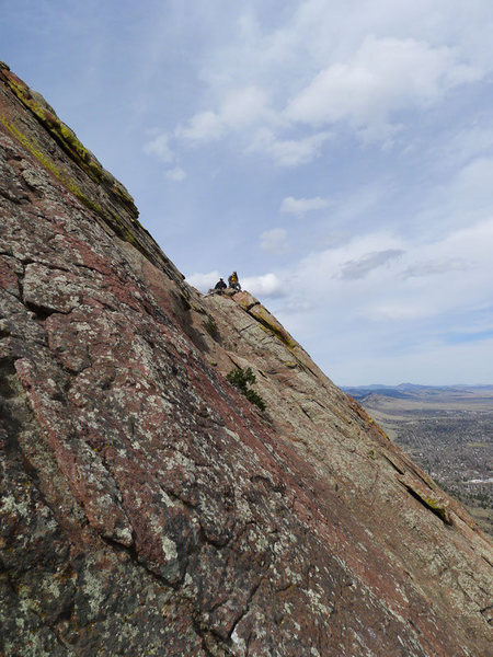 Rock Climbing Photo: Party on the N Arete as viewed from E Face Direct.
