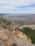 Rock Climbing Photo: Another party on the N Arete as viewed from E Face...