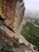 Rock Climbing Photo: Where the dihedral changes angle.