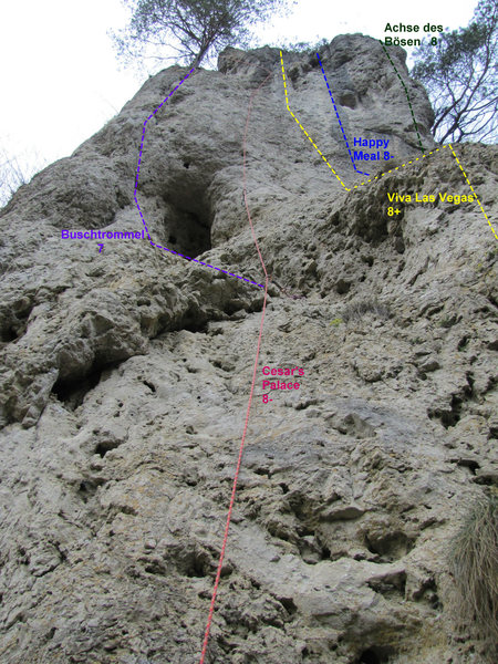 Rock Climbing Photo: The majority of the routes on the Right (Upper) se...