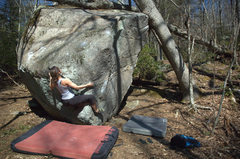 Rock Climbing Photo: Sussin out the first move