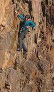 Rock Climbing Photo: Fun moderate climbing on steep rock-Lyguia does he...