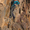 Fun moderate climbing on steep rock-Lyguia does her first outdoor lead on (pitch 1)<br> Heat Seeker (5.11-)