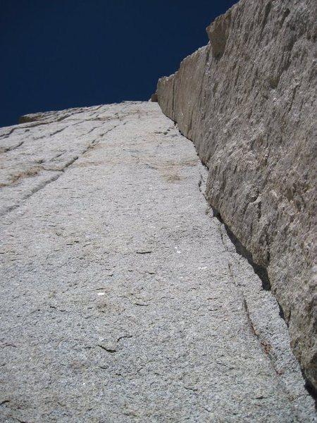 Rock Climbing Photo: Bloody Corner crux pitch.