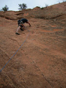 Rock Climbing Photo: On-sight of Pikes Peak (5.7) - Red Rocks Open Spac...
