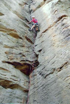 """Rock Climbing Photo: Bob Kamps enjoying """"Ant Killer"""" 5.9 at D..."""