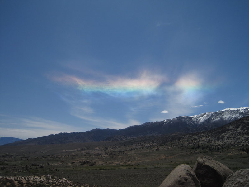 Ice crystals over the high sierra