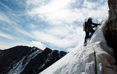 Rock Climbing Photo: Starting out on the second pitch on Quicksilver. C...