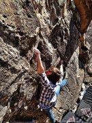 Rock Climbing Photo: Jake running laps on Gummerson.