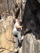 Rock Climbing Photo: Josh focusing.
