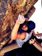 Rock Climbing Photo: Dakota reaching for one of the final holds.