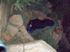 Rock Climbing Photo: bivy on ledge above 3rd pitch