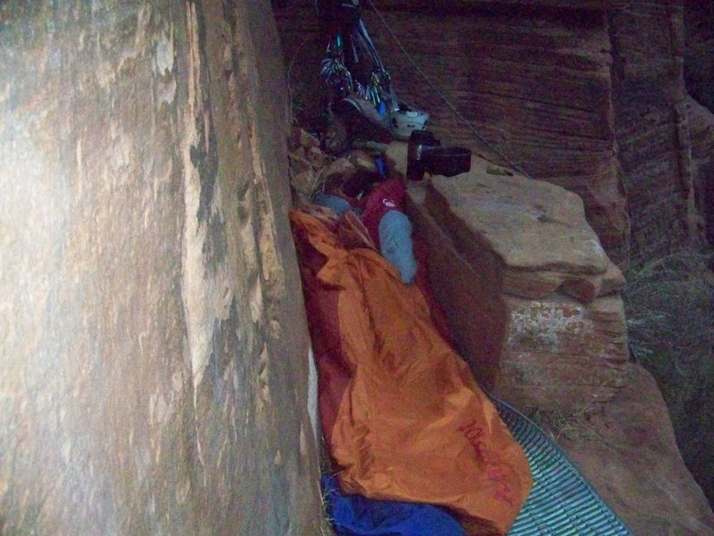 bivy above pitch 3