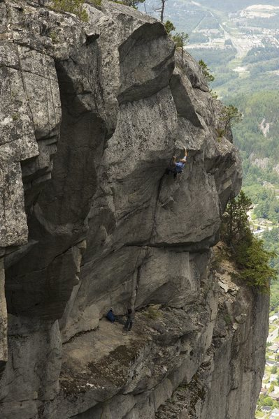 Rock Climbing Photo: J. Smith on Munitions Plant. High Line Wall Squami...