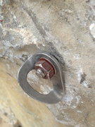 Rock Climbing Photo: The old 5th bolt and the one that started the talk...