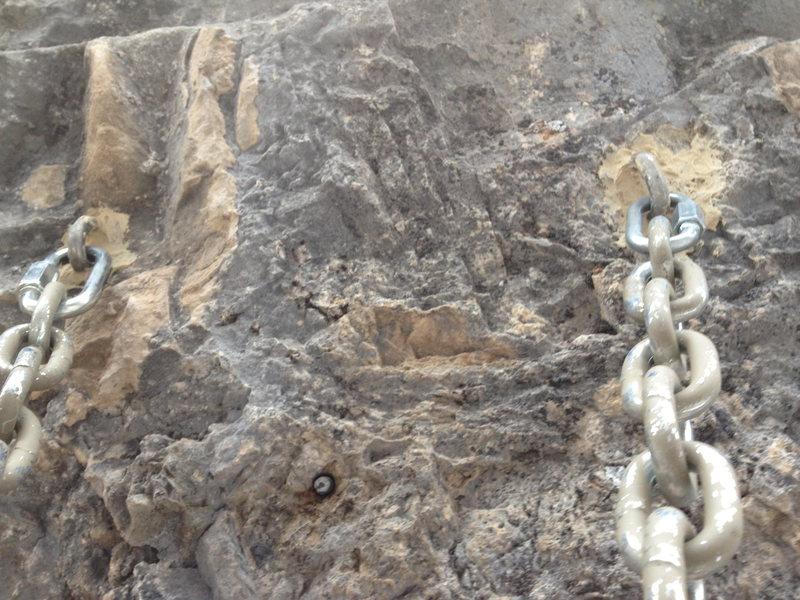 Rock Climbing Photo: New anchor
