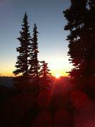 Rock Climbing Photo: olympic sunset