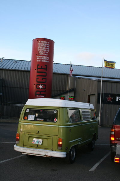 pit stop @ Rouge Brewery <br> <br> <br> -Hank the Climbing Bus-