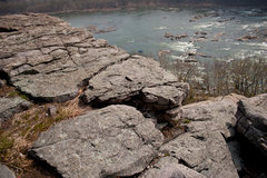Rock Climbing Photo: View of top from the trail. Down and to the right ...