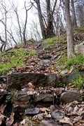 Rock Climbing Photo: Rock steps. Whoever built these did a great job.