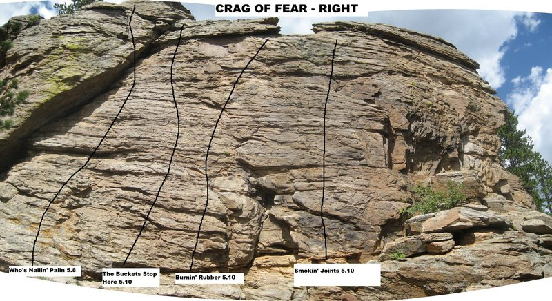 Crag of Fear right.<br> <br> Photo courtesy of Rich Perch.