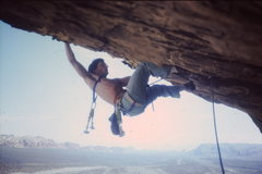 Rock Climbing Photo: Jugs out the big roof
