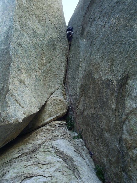 Taking care of business on the handcrack pitch.