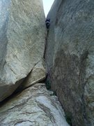 Rock Climbing Photo: Taking care of business on the handcrack pitch.