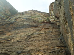 Rock Climbing Photo: Photo of upper dihedral after chimney.