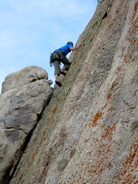 Rock Climbing Photo: Joe on the FA of Grape Nuts.