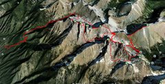 Rock Climbing Photo: Enchainment proposed route... any suggested altern...
