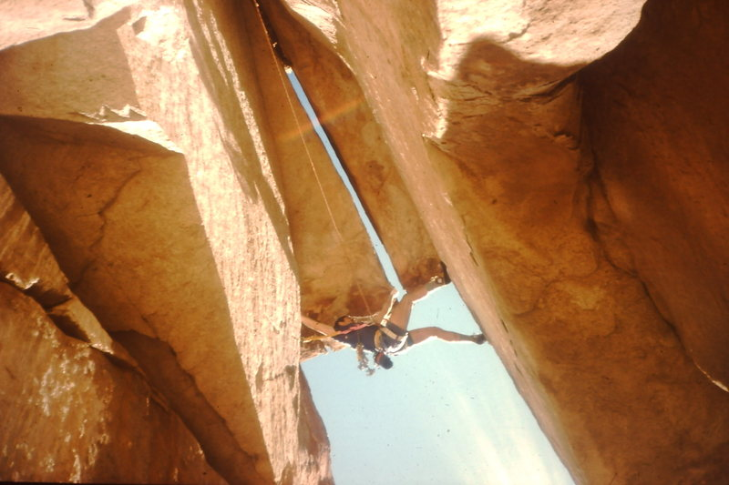 Rock Climbing Photo: The under cling step across