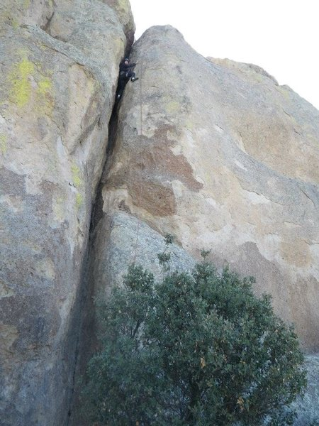 Rock Climbing Photo: bolted chimney