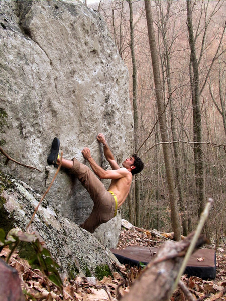 """Rock Climbing Photo: Aaron James Parlier on the start to """"Polytech..."""