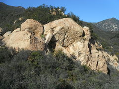 Rock Climbing Photo: Rock on the Coast 5.10+, as seen from Saddle Rock ...