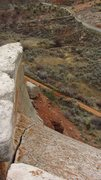Rock Climbing Photo: View from the top.  Hwy 191 in the upper right-han...