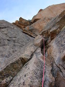 Rock Climbing Photo: 3rd pitch of elephant's perch