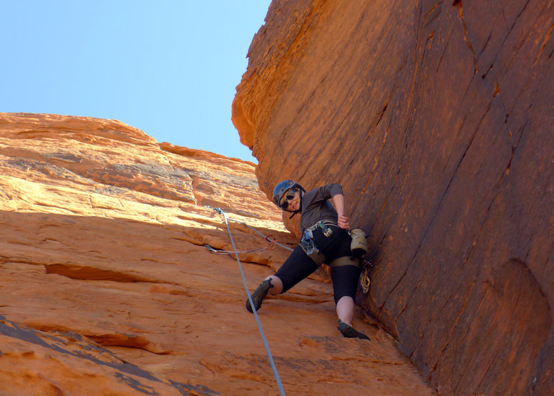 Rock Climbing Photo: Enjoying the corner!