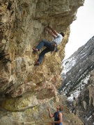 Rock Climbing Photo: This was my first 12.a fun climb but hard on the h...